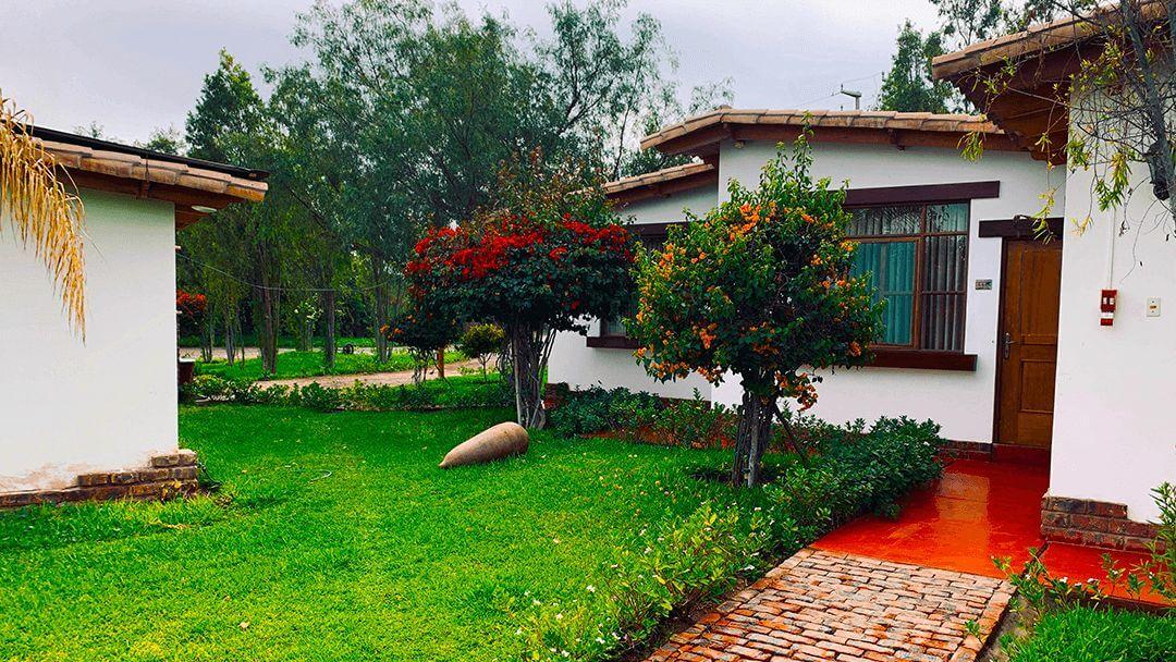 Hermosas áreas verdes en el Hotel Nasca Oasis